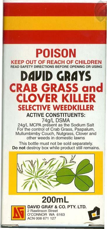 Crab Grass and Clover Killer